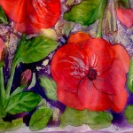 Red Flowers Kerchief