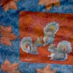 Autumn leaves and Squirrels