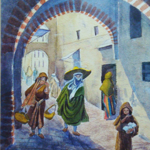 Watercolour of Tangiers