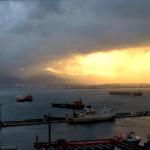 Sunset across the Bay of Gibraltar